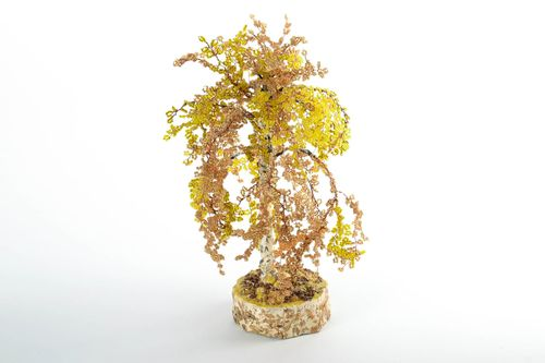 Decorative birch made of beads - MADEheart.com