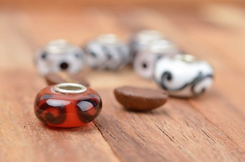 Unusual handmade glass bead fashion trends craft supplies art materials - MADEheart.com