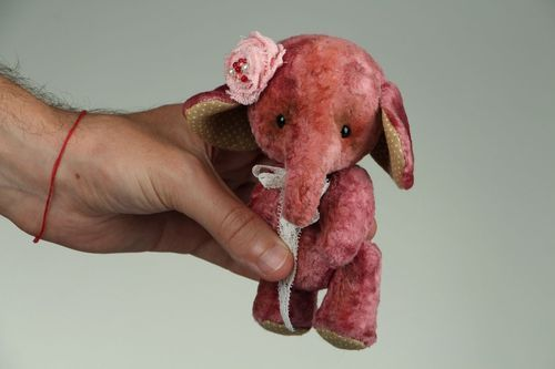 Vintage plush toy Elephant, Teddy technique - MADEheart.com