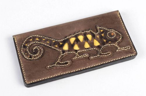 Handmade wallet designer purse leather purse for men unusual accessory - MADEheart.com