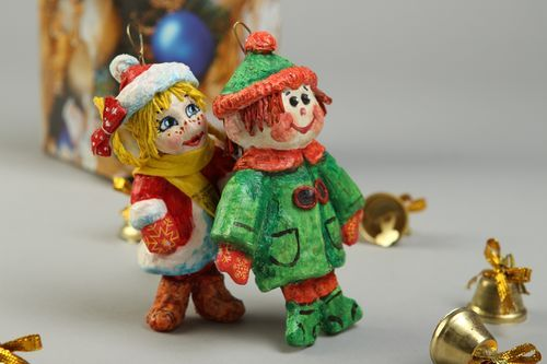 Handmade Christmas toys set of 2 items gift ideas New Year decoration - MADEheart.com