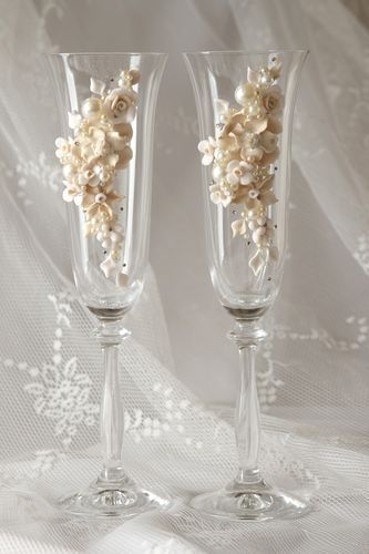 Wedding handmade glasses unusual designer accessories lovely beautiful present - MADEheart.com