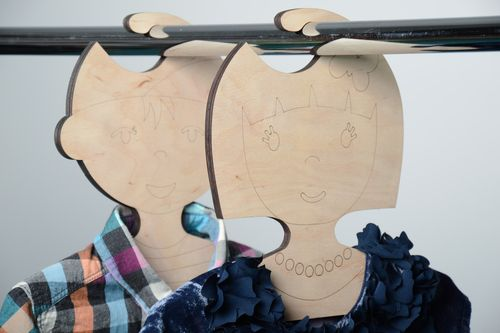 Handmade plywood blank childrens clothes hanger - MADEheart.com