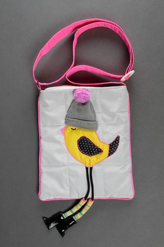 Children purse handmade baby bag fabric shoulder bag textile purse for girls - MADEheart.com