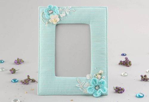 Blue photo frame - MADEheart.com
