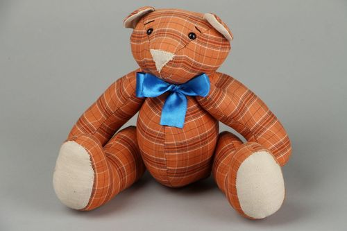 Soft toy Bear with bow - MADEheart.com