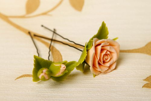 Handmade hair pin designer hair pin set of 2 items fashion accessories - MADEheart.com
