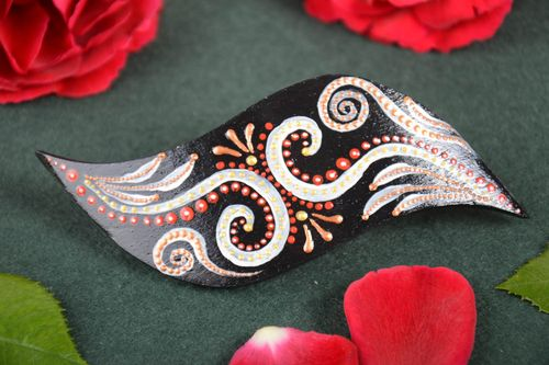 Handmade wooden hairpin hair accessories wooden barrette wooden jewelry - MADEheart.com