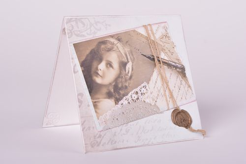 Greeting cards sepia designers photos romantic cardboard cards scrapbooking - MADEheart.com