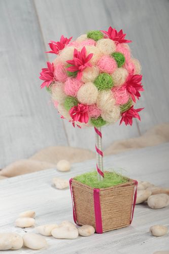Beautiful handmade topiary decorative tree of happiness home design gift ideas - MADEheart.com