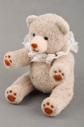 Stylish handmade soft toy needle felting cute toys for kids cool rooms - MADEheart.com