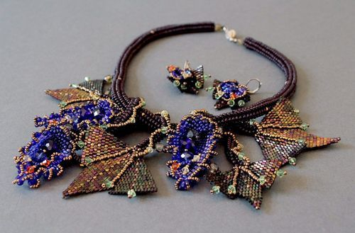 Accessory Set Made of Czech and Japanese beads and Crystals Queen Hatshepsut - MADEheart.com