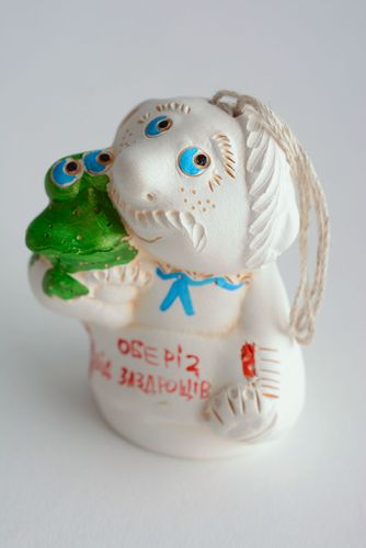 Ceramic charm bell Protection from Envious Persons - MADEheart.com