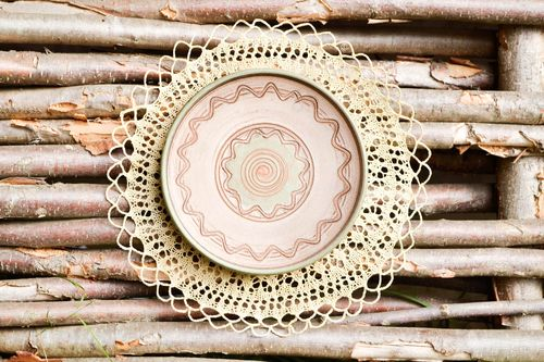 Handmade plate designer plate gift ideas unusual gift kitchen decor clay plate - MADEheart.com