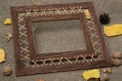 Homemade home decor photo frame wall hanging wooden photo frame wooden gifts - MADEheart.com