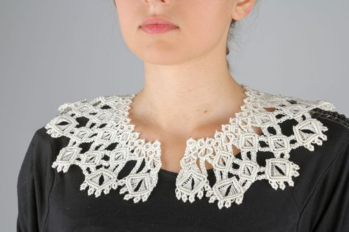 White woven collar - MADEheart.com