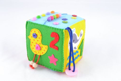 Activity cube for children - MADEheart.com