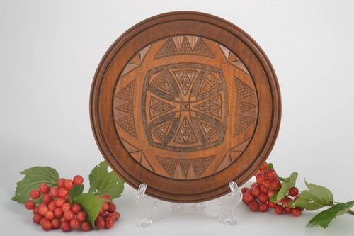 Decorative wall plate handmade decorations wall hanging rustic home decor - MADEheart.com