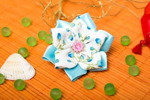 Stylish handmade hair tie childrens flower scrunchie accessories for girls - MADEheart.com