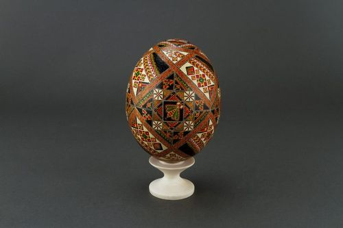 Painted ostrich egg - MADEheart.com