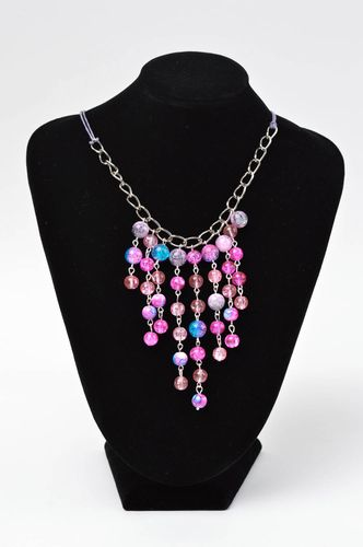 Beaded necklace handmade jewelry charm necklace designer accessories gift ideas - MADEheart.com