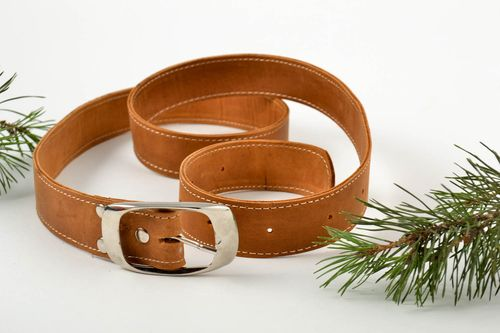 Belt for men handmade leather belt leather goods men accessories gifts for guys - MADEheart.com