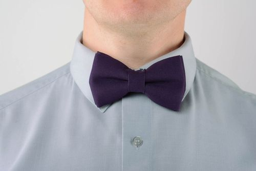 Bow tie Purple - MADEheart.com
