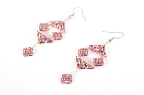 Polymer clay earrings Geometry - MADEheart.com