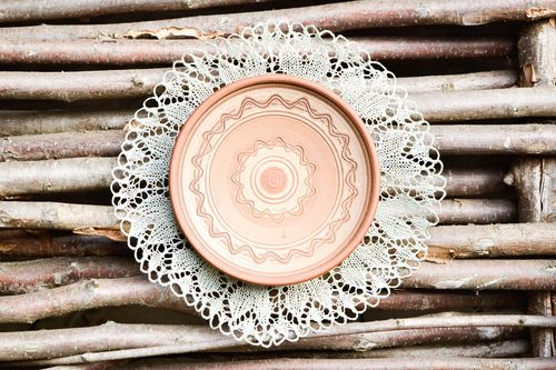 Ceramic plate handmade decorations kitchen plates for decorative use only  - MADEheart.com