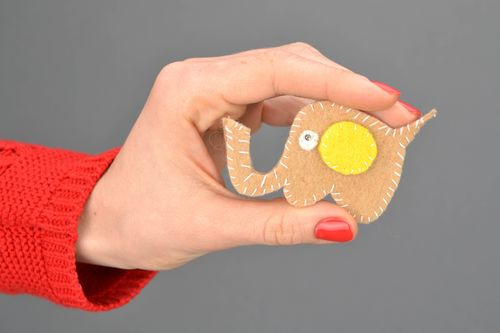 Woolen brooch for children Elephant - MADEheart.com