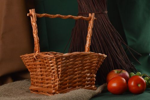Beautiful handmade woven basket home accessories room decor ideas small gifts - MADEheart.com