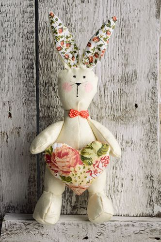Natural fabric toy Hare - MADEheart.com