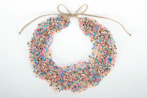Multi-colored bead necklace - MADEheart.com