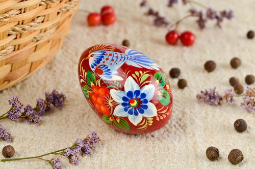 Handmade wooden Easter egg cool rooms painted Easter eggs decorative use only - MADEheart.com