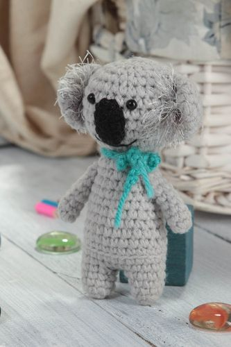 Handmade koala soft toy designer crocheted toy for children unique decoration - MADEheart.com