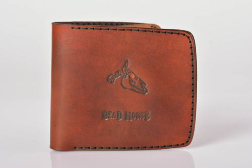 Mens designer wallet handmade leather wallet leather goods gifts for boyfriend - MADEheart.com