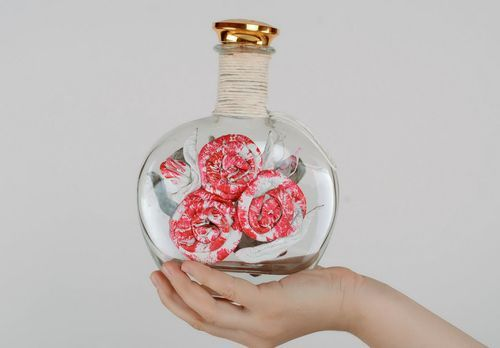 Decorative bottle Roses - MADEheart.com