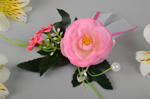 Handmade designers boutonniere for groom big with flowers - MADEheart.com