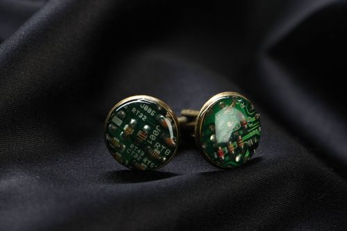 Cyberpunk cufflinks for shirt - MADEheart.com