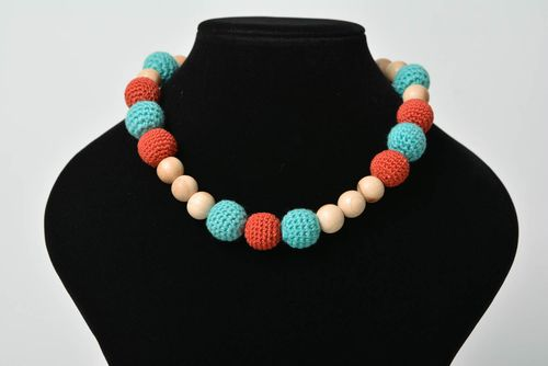 Handmade crochet necklace sling necklace for breast feeding women accessory - MADEheart.com