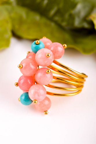 Handmade ring designer ring with stones unusual accessory gift for women - MADEheart.com