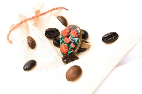 Handmade flower ring seal ring fashion accessories for women gifts for girls - MADEheart.com