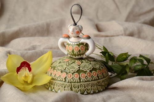 Ceramic bell for home decor Lady - MADEheart.com