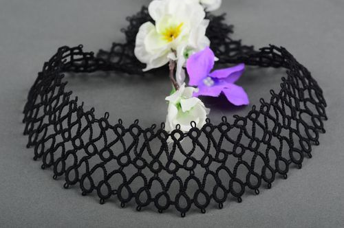 Tatting collar openwork collar handmade designer collar for dress gift for girl - MADEheart.com