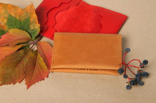 Beautiful handmade card holder leather goods business card holder gift ideas - MADEheart.com