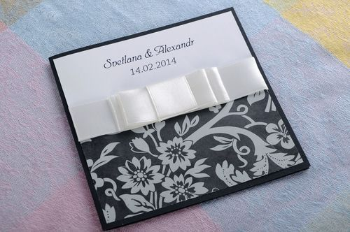 Beautiful wedding invitation - MADEheart.com