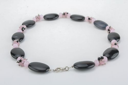 Unusual necklace with natural stones - MADEheart.com