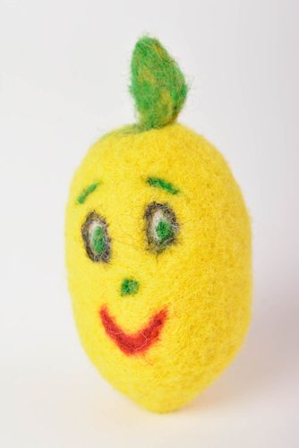 Handmade bright soft toy beautiful woolen toy unusual lemon soft toy ideas - MADEheart.com