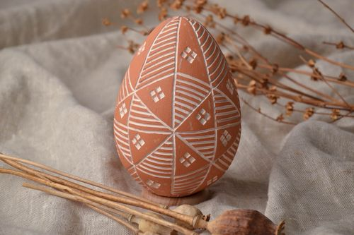 Painted clay Easter egg Sorokoklinka - MADEheart.com