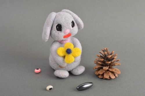 Handmade woolen unusual toy beautiful stylish toy decorative rabbit toy - MADEheart.com